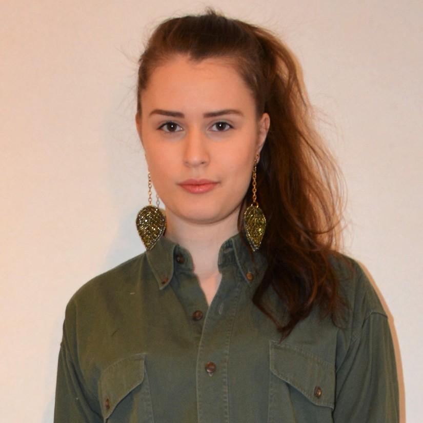 Military Green & Leaf Earrings (and aprince)